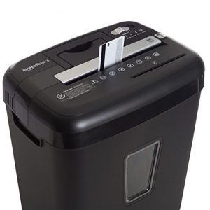 AmazonBasics 12-Sheet High-Security Micro-Cut Paper Shredder
